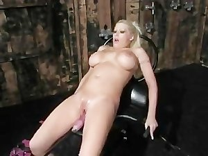 Candy Manson Wonderful Big Tits Cum Intensly With Fucking Machine
