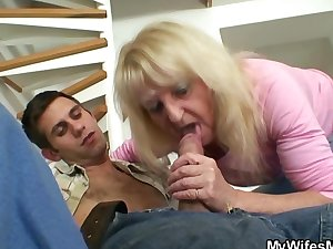 Bigcocked guy is drilling his mother-in-law
