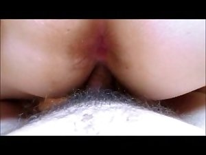 son fucks mom tight wet pussy closeup view DP mom and stepson