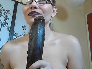 goth lipgloss sissy loser sph