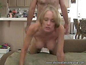 Stepson Gives Mom A Creampie