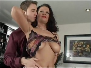 Busty Milf Stepmom wants to fuck stepson on his birthday