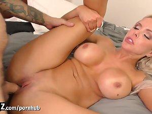 WANKZ - Hot Blonde Loves Her Stepson's Big Cock!