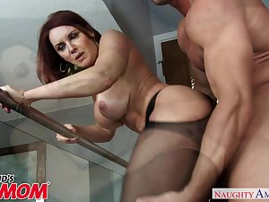 Redheaded MILF Janet Mason seduces her son's young friend - Naughty..