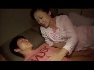 Sweet Japan Step Mother Teaching Son