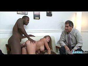 Watching mom fuck a black guy 199