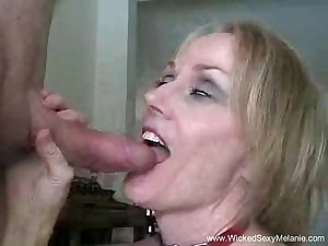 Amateur MILF Sloppy Blowjob