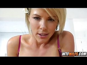 Pretty blonde stepmom wants to fuck her son 4 002