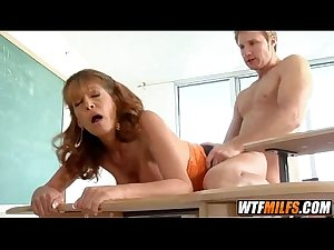 Horny teacher cheats on her husband 5 001