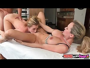 Mom and daughter fuck cock together Brandi Love, aylor Whyte 1 4