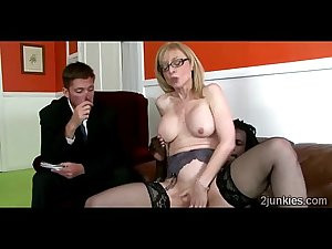 Big stacked blonde MILF helps queer son to keep his jobuckold-9761..