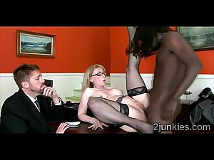 Blonde MILF gets fucked by her sons gifted balck boss